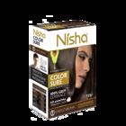 Безамиачная крем-краска для волос Nisha Шоколадно-Коричневая №3,5 с маслом авокадо