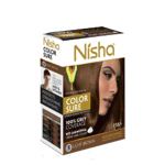 Безамиачная крем-краска для волос Nisha Светло-Коричневая №5 с маслом авокадо