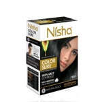 Безамиачная крем-краска для волос Nisha Черная №1 с маслом авокадо