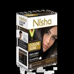 Безамиачная крем-краска для волос Nisha Светло-Черная №1,5 с маслом авокадо